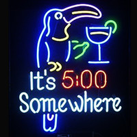 It's 5 00 Somewhere Neon Sign Real Neon Light