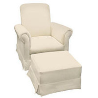Newco California Glider and Ottoman Set - Buckwheat Velvet