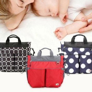 3 Pc Set Fashionable Diaper Bag With Stroller Straps