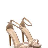 Single Strap Life Faux Patent Heels