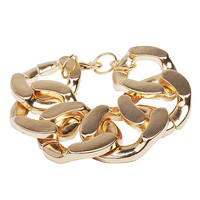 Trend Golden Bracelet Chunky Chain Jewelry Simple Bracelet Jewelry