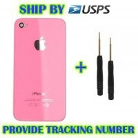 HiCliC - iPhone 4S Replacement Pink Rear Back Cover Glass Housing + Repair Tool Kit