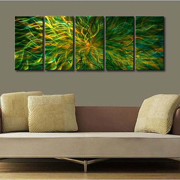 "Original Metal Wall Art Modern Painting Sculpture Indoor Outdoor Decor ""Magic series"" by Ning"