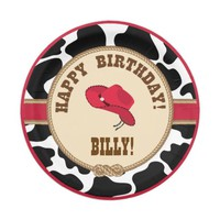 Cowboy Birthday, Customizable Plates 7 Inch Paper Plate