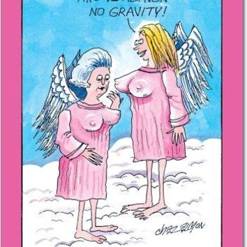No Gravity Unique Funny Birthday Card, Funny Birthday Card - Free Shipping