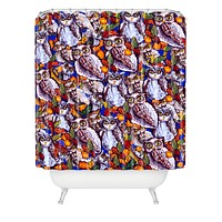 Renie Britenbucher Owls Multi Shower Curtain