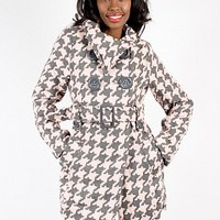 10631WS-11-3 Houndstooth Pea Coat Apparel Jackets & Wraps PINK MULTI Bare Feet Shoes