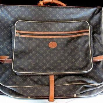 PEAPYD9 Authentic LV ~ Vintage Louis Vuitton Garment Bag ~ Monogram Louis Vuitton Luggage
