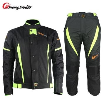 Trendy Riding Tribe Motorcycle Winter Warm Jacket Pants Suit Windproof Motocross Racing Armor Protective Motorcyclist Clothing JK-37 AT_94_13
