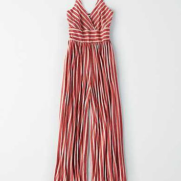 AE Striped Knit Jumpsuit, Rust