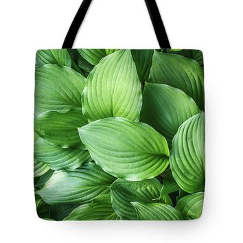 Beautiful Green Arc-shaped Leaves Tote Bag