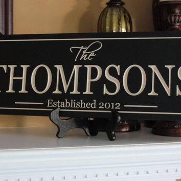 Family name sign Personalized sign Custom by michaelswoodworks