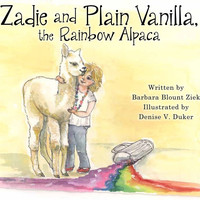 Zadie and Plain Vanilla, the Rainbow Alpaca