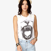 Lion's Roar Graphic Muscle Tee