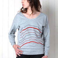 Snake Rainbow Drop Sleeve Sweatshirt