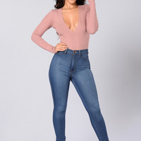Gia Bodysuit - Dusty Pink