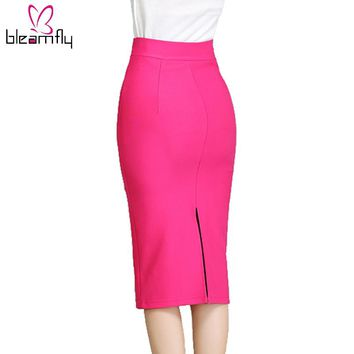 Slim Knee Length Skirt
