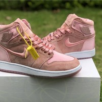 "Air Jordan 1 ""Satin"" Pink Women Sneaker Shoe 36-40"