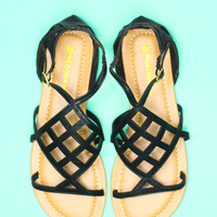 Chasing Pavements Sandal - Black