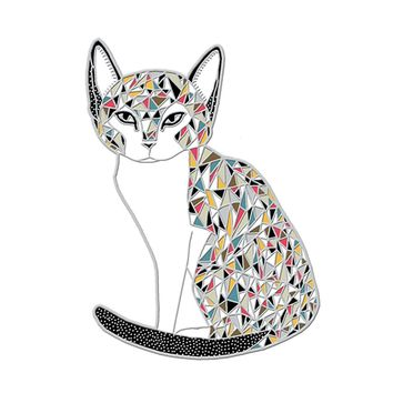 Calico Cat Pin