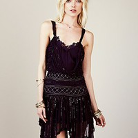 Free People Womens Ode To Tea Shimmer Dress