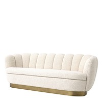 White Scalloped Sofa | Eichholtz Mirage