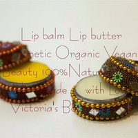 Lip balm - Lip butter - Best Tinted Lip Balm - Vegan - Organic - Cosmetics - Beauty -  100% Natural - Gift