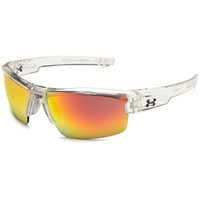 Under Armour UA Igniter Crystal Clear Frame Orange Mirror Multiflection Lens Sport Sunglasses