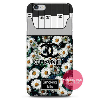 Chanel Coco Flower Smoking Kills iPhone Case 3, 4, 5, 6 Cover