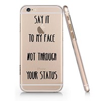 Funny Quotes Slim Iphone 6 6S Case, Clear Iphone 6 6S Hard Cover Case-Emerishop