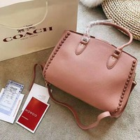 COACH 2018 new trend female models wild rivet shoulder bag
