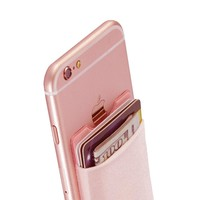 Adhesive Smart Phone Card Holder With RFID Blocking Technology