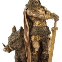Norse God Freyr Statue 10""