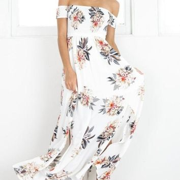 ESBC8S Print Hot Sale Wrap Floral Prom Dress One Piece Dress