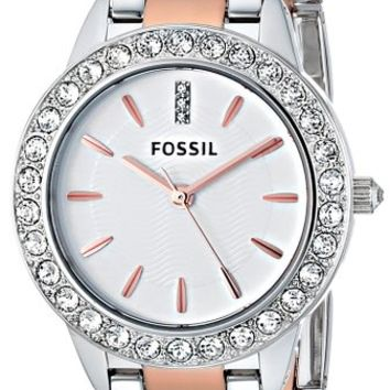 Fossil Women's ES3622 Jesse Crystal-Accented Two-Tone Stainless Steel Watch