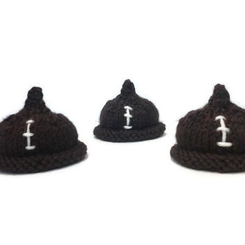Football Baby, Football Gifts, Daddy's Boy, Hand Knit, Baby Boy Shower Gift, PeePee TeePee, Baby Boy Gift, Gender Reveal Idea, New Mom Gift
