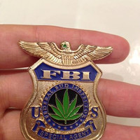 Federal Bud Inspector Hat pin lapel pin not bassnectar, pretty lights, big gigantic, dabs, griz, string cheese, dabs, weed, oil sticker