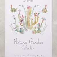 Nature Garden 2016 Calendar by Miji Lee Neutral Motif One Size Office