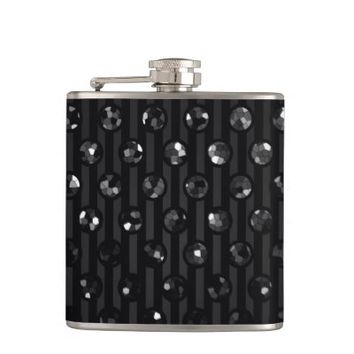 Flask Black Sparkley Jewels