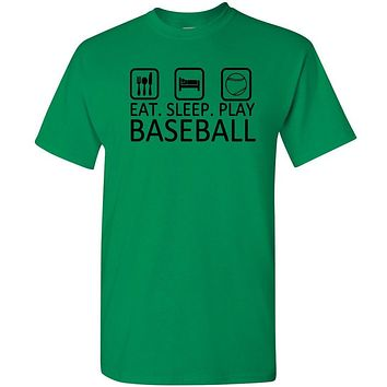 Eat Sleep Play Baseball T Shirt