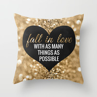 Fall In Love Throw Pillow by Tangerine-Tane