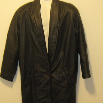 Vintage 80s Clean ANDREW MARC Black Soft Leather Jacket