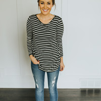 Brooke Striped Top in Olive
