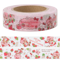 Hello Kitty × Strawberry Shortcake Masking Tape Washi Tape KAWAII SANRIO from Japan