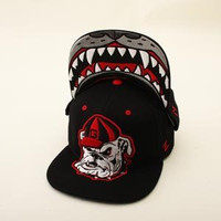NCAA Georgia Bulldogs Zephyr Harry Dog Black Snapback Hat