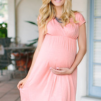 Light Pink Maternity/Nursing Dress