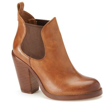 ShoeMint Spence Women's Leather High Heel Ankle Boots