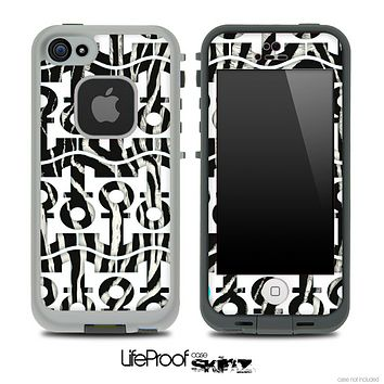 White and Real Zebra Print Anchor Collage Skin for the iPhone 5 or 4/4s LifeProof Case