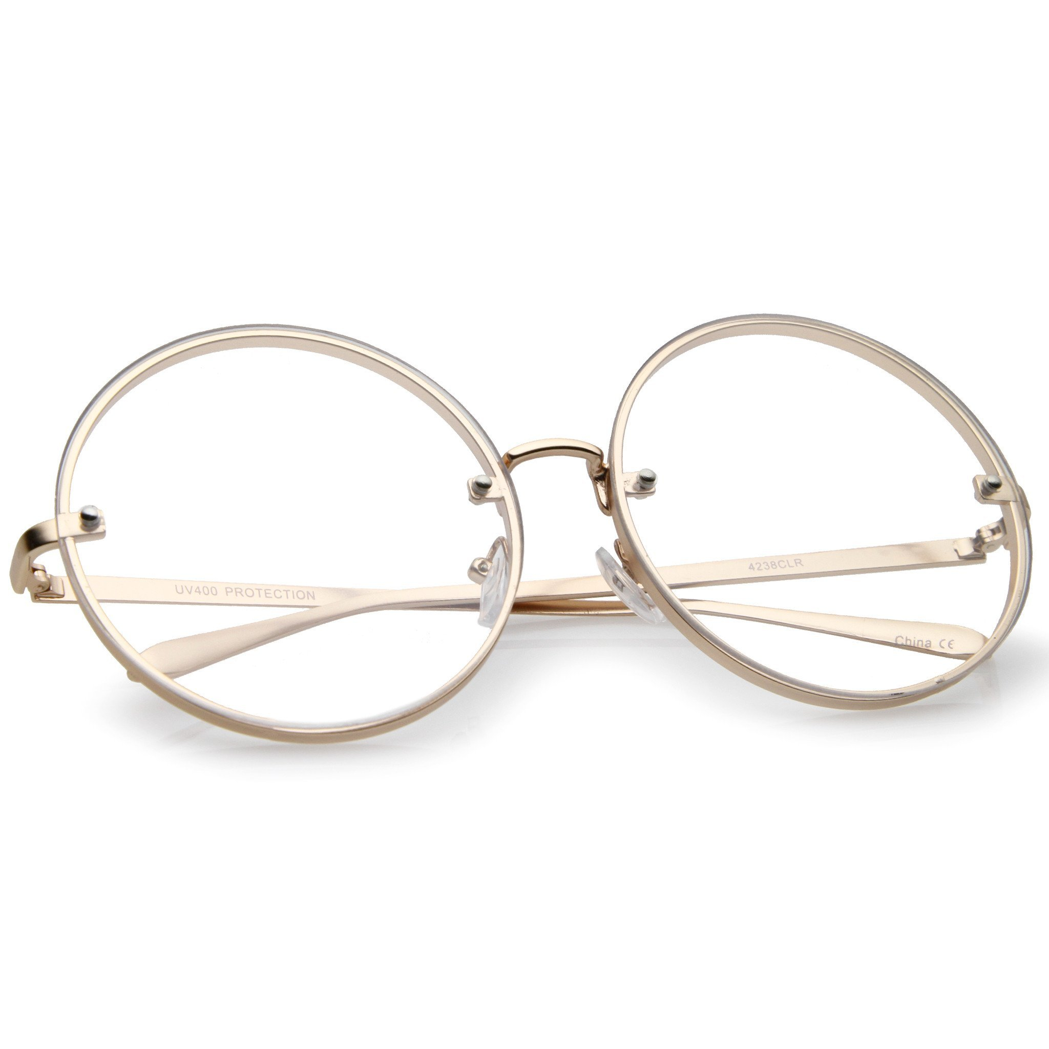 75100979e084c Modern Oversize Infinity Round Clear Lens Glasses A896