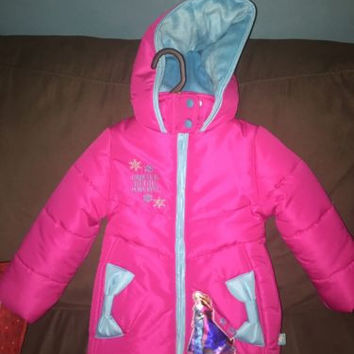 Frozen Pink Coat Puffy Coat, NWT Size 2T